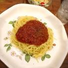 スパゲティ・ミートソース(サラダ・スープ付)