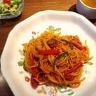 スパゲティ・ナポリタン(サラダ・スープ付)